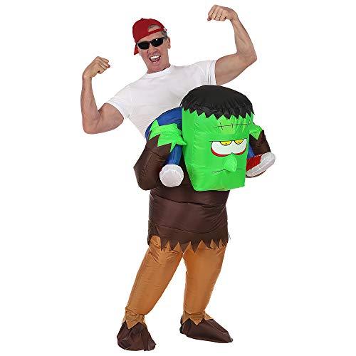 WIDMANN 75509 Huckepack Monster Kostüm für Erwachsene, Unisex, Mehrfarbig