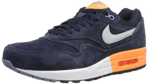 Nike Air Max 1 Prm, Chaussures de Running Entrainement Homme Multicolore - Mehrfarbig (Drk Obsdn/Mtllc Slvr/Atmc Orng 400)