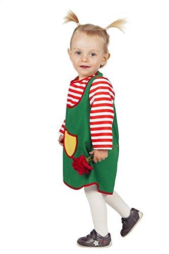m Grünes-Kleid Karlinchen Gr.74 (Zwerg Kostüm Kleinkind)