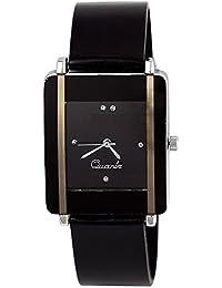 DAIZEL Square Dial Premium Quality Series Analogue Black Dial Black Plastic Strape Fashion Wrist Watch For Women...