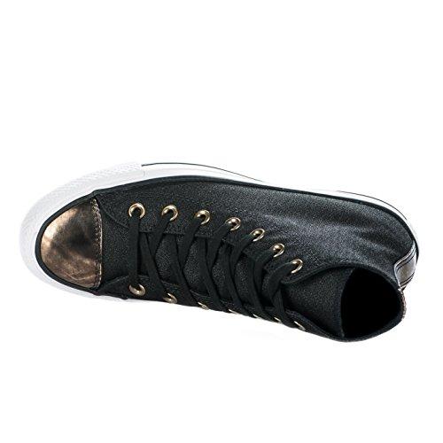 Baskets fille - CONVERSE - Noir - CHUCK TAILOR ALL STAR HI - BRUSH OFF TOECAP - Millim Noir