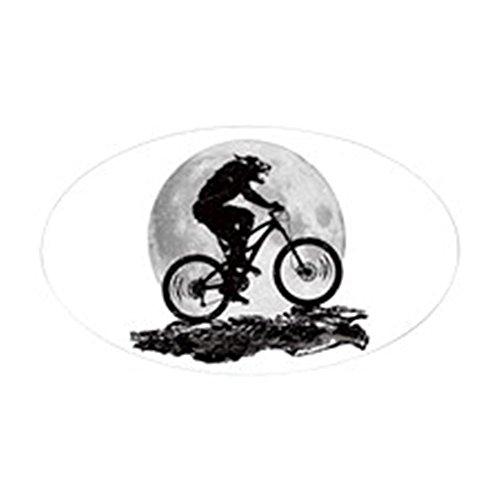 CafePress-Howl at the Moon Aufkleber (Oval)-oval Bumper Sticker KFZ Aufkleber, weiß, Large - 4.5x7.5
