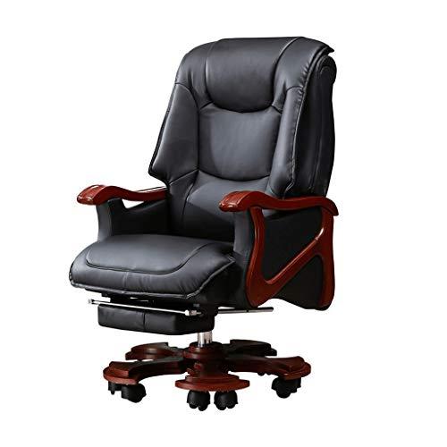 GLLT Bürostuhl Ergonomische Bürostühle Mit Armen Und Rückenlehne Schreibtischstuhl Kunstleder Computer Stuhlräder Schwarz