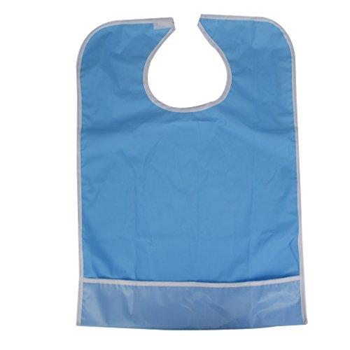 Wasserdicht Erwachsenen Laetzchen Esslaetzchen Mahlzeiten Bib Schutz Behinderung Hilfe Schuerze Himmelblau (Schutz Bib)