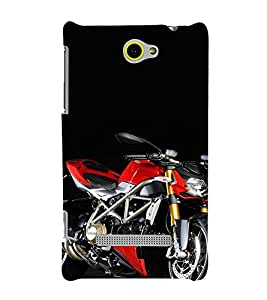 EPICCASE Sexy Red Bike Mobile Back Case Cover For HTC One Max (Designer Case)
