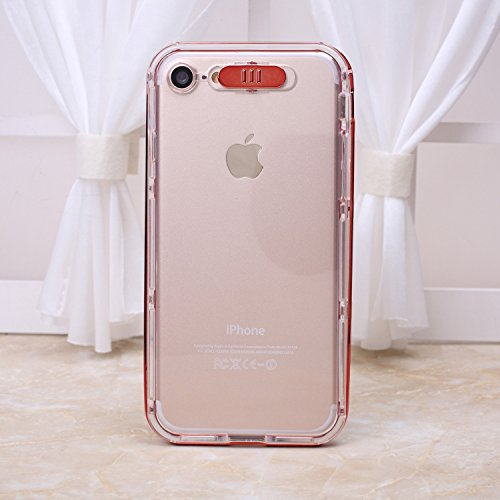iPhone Case Cover Transparent TPU Soft Cover mince couverture de protection souple clignotant arrière pour iPhone 7 4,7 pouces ( Color : Blue , Size : IPhone 7 ) Red