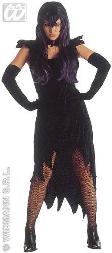 Widmann wdm3132N–Kostüm für Erwachsene Dark Mistress aus Samt, Schwarz, XL
