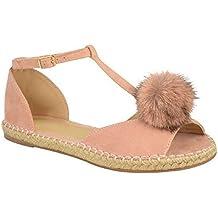 Mujeres Planas Sandalias Alpargatas Shoes de Verano Chunky Zapatos Vacaciones Sandalias de cáñamo Zapatos Peep Toe