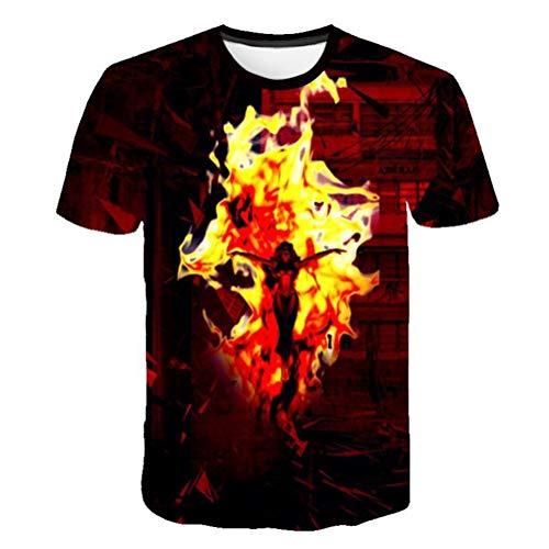 Unisex patrón 3D impreso X-Men: Phoenix oscura Camisetas de manga corta Camisetas con gráficos ocasionales (color : #I, Tamaño : S)