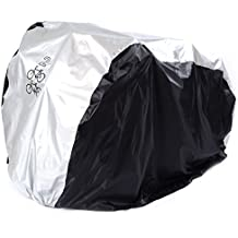 Maveek Waterproof Bicycle 2 Bike Cover Rain and Dust Resistant UV Protection (Silver) by Maveek
