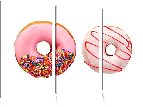 lustrate-donuts-3-pezzi-picture-tela-120x80-immagine-sulla-tela-xxl-enormi-immagini-completamente-pa