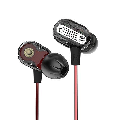 OKCSC ZSE Dual Dynamic Treiber In-Ear-Kopfhörer Double Einheit HiFi-Kopfhörer Noise Cancelling Heavy Bass Stereo Earbud