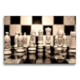 Calvendo Premium Lienzo de 75 cm x 50 cm Horizontal, ajedrez en Espejo Imagen Imagen Imagen de Pared, Imagen sobre Lienzo, Lienzo: el Juego de los Reyes Arte Arte