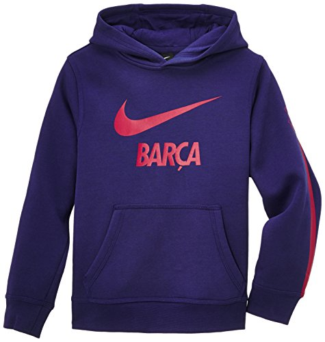 Nike Jungen Hoodie FC Barcelona Brushed Fleece, Loyal Blue/Noble Red, L, 620304