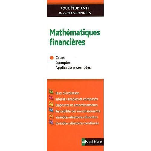 Mathematiques Financières de Collectif (2011) Broché