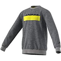 adidas Lineage Crewneck Sweater, Felpa Bambino, Core Heather, 11-12A