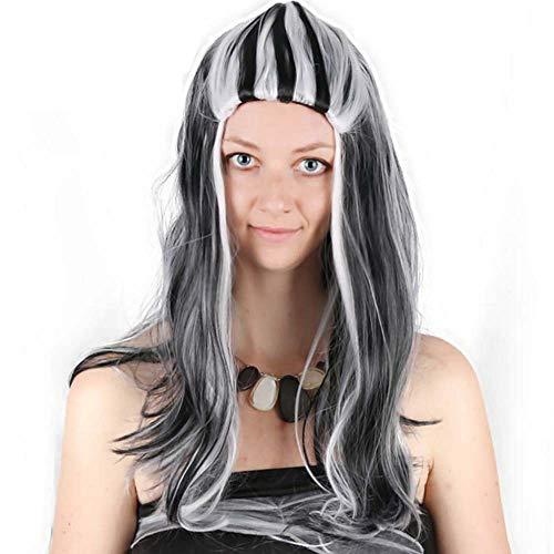LL Perücke Frauen Perücke Festival Mode Lange Glattes Haar Halloween Realistische Pop Weiß Treffen Cosplay Faser Haar Sets