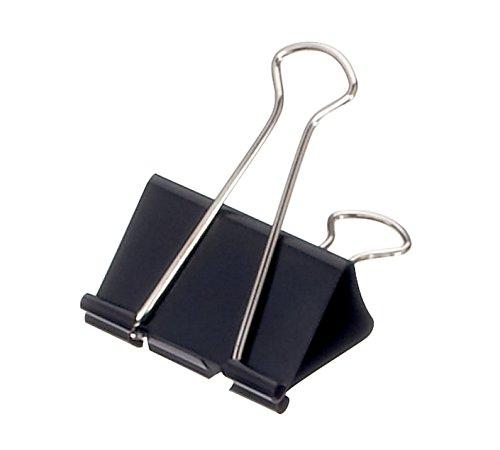 Foldback-Klemmer mauly®, 51mm breit, Klemmweite 28mm, schwarz