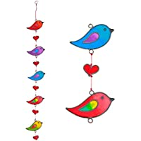 Colourful Bird Stained Glass Sun Catcher Mobile - Beautiful Window
