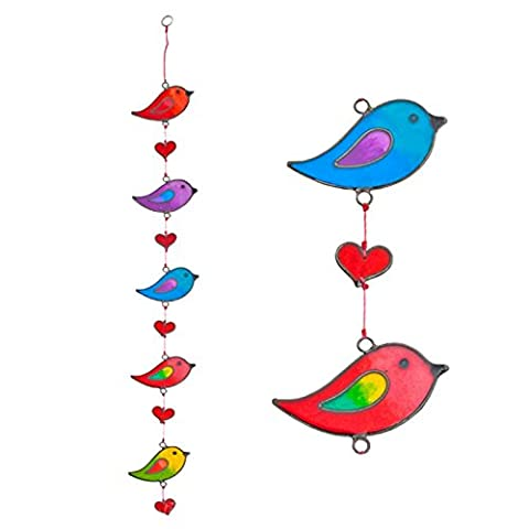 Colourful Bird Stained Glass Sun Catcher Mobile - Beautiful Window Hanging - Home Decoration by Suncatchers