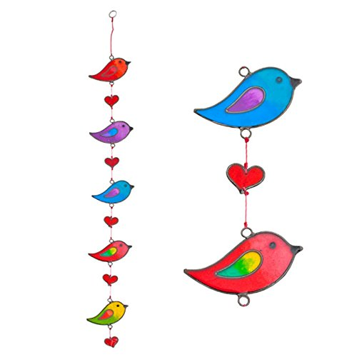 Preisvergleich Produktbild Colourful Bird Stained Glass Sun Catcher Mobile - Beautiful Window Hanging - Home Decoration by Suncatchers