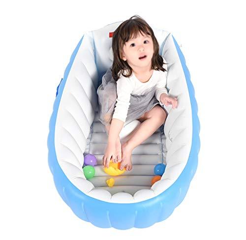 Babybadewanne, Baby-Badewanne, blaue zusammenklappbare aufblasbare Wanne, tragbare Luftpumpe 80 * 50 * 35cm - Geeignet für die Reise zu Hause