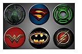 DC Comics Aimants super-héros Batman Superman Green Lantern Green Arrow Wonder Woman Flash Aimants de réfrigérateur 4,4cm inch casiers