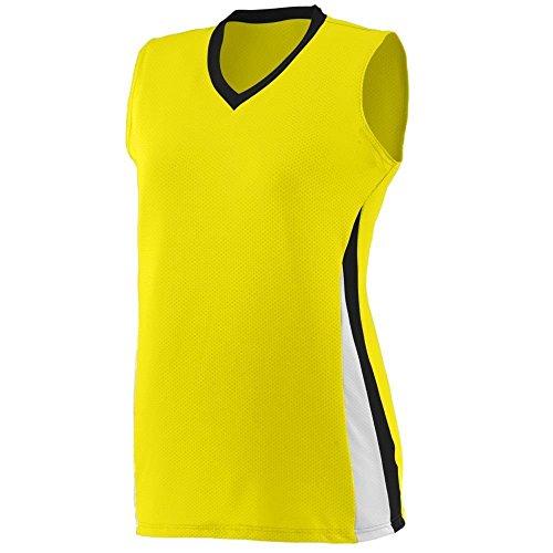 Augusta - T-shirt de sport - Femme Multicolore - Power Yellow/Black/White
