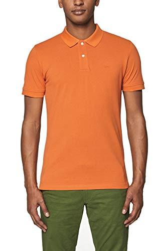 ESPRIT Herren Poloshirt 999EE2K803, Orange (Burnt Orange 815), Medium (Herstellergröße: M) - Burnt Orange T-shirt