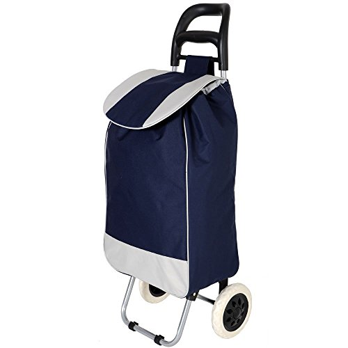 KriShyam Folding Essential Shopping Trolley-Luggage-Bag-With-2 Wheels (Navy)  available at amazon for Rs.1154