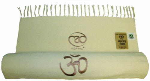 Yoga Mad Organic Cotton Yoga Rug, White
