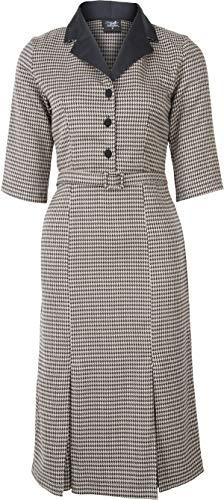 Pin Jahre 40er Kostüm Up - Küstenluder Damen Kleid Laurelin Vintage Hahnentritt Dress Schwarz S