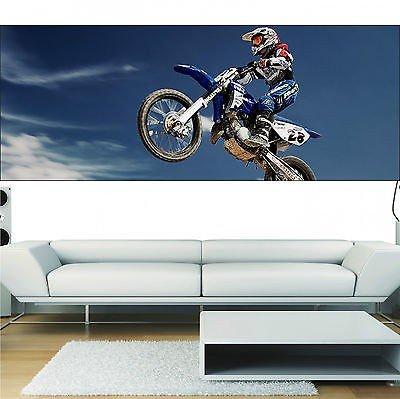 Stickersnews - Stickers panoramique déco moto cross 3697 13 dimensions ) Dimensions - 180x70cm