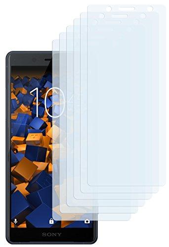 mumbi Schutzfolie kompatibel mit Sony Xperia XZ2 Compact Folie klar, Displayschutzfolie (6x)