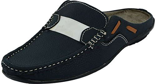 Shoe Fab Men's Black Synthetic Sandals (SV-G9000-9) - 9 UK