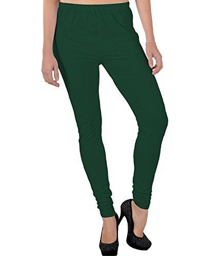 Ruby Cotton Chudidar Legging- Dark Green- XXL