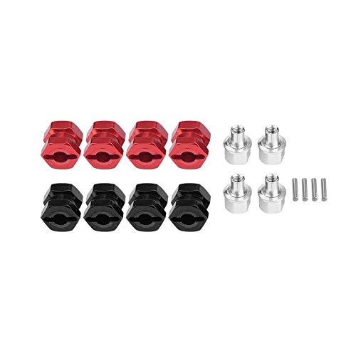 Dilwe 4 Stücke RC Auto Radnabe Adapter, RC Rad Hex Hub Metall Adapter für Traxxas Hsp Redcat Fernbedienung Crawler Upgrade Teil( 12 mm) (12mm Rc Reifen Und Räder)