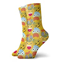 wonzhrui Kids Cute Emoji Crew Socks Casual Funny For Sports Boot Hiking Running Etc.