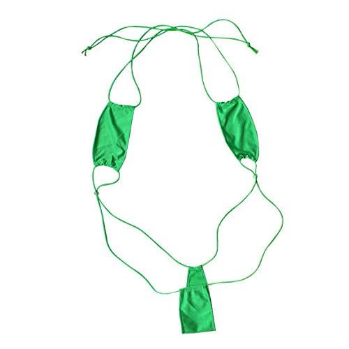 Kostüm Borat Baby - Creamlin Teeny Weeny Sling Shot Micro Mini Bikini Thong Einteiler Teddy (Grün)