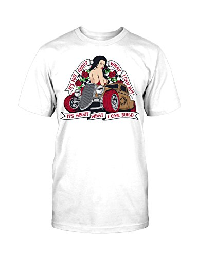 Hot Rod T-Shirt Neu Rockabilly Vintage Roses Old School Tattoo College Retro Fun Weiß