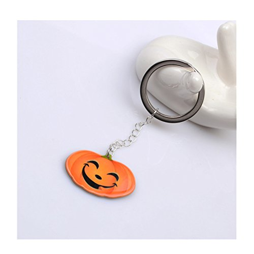 Beydodo Halloween-Party Schmuck Vergoldet Schlüsselanhänger Kürbis Lächeln Keychain (Tumblr Partner Kostüme)