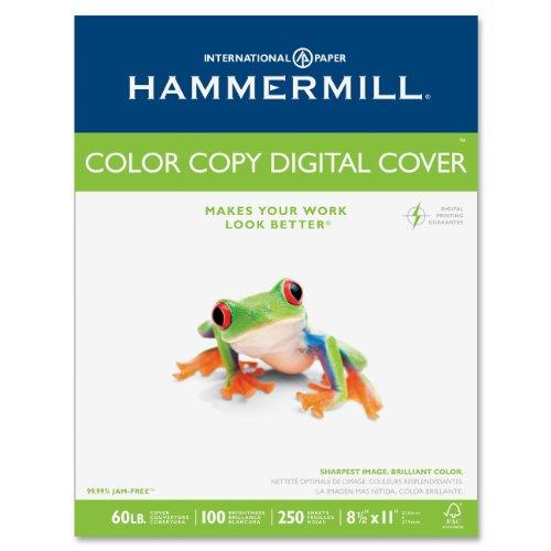Hammermill 122549 Cover Stock 60lb White 98 Brightness Letter 250 - 60 Papier Lb