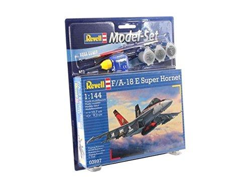 Imagen 2 de Revell - Maqueta modelo set F/A-18E Super Hornet, escala 1:144 (63997)