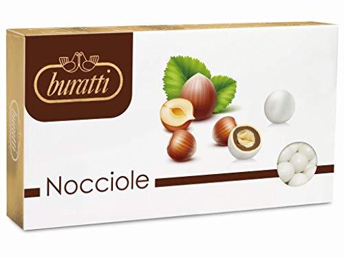 Buratti confetti nocciola bianche - 1 kg