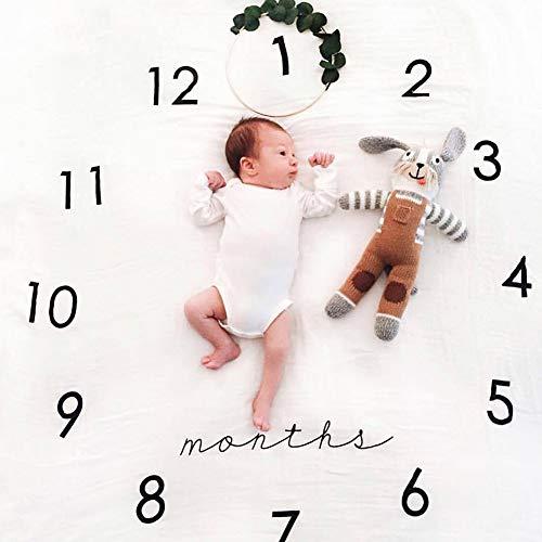 Baby Milestone Decke Fotografie Requisiten Hintergrund Foto Prop um Ihr Baby 's Wachstum Infant Baby Pucken Monat Decke für die Fotografie New Mom Baby Dusche Geschenke