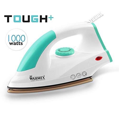 Warmex Home Appliances 1000 Watts Tough Plus Electric Light Weight Dry Iron (Aqua Green)