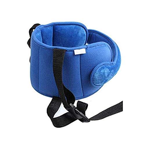 ICYANG Kinder Autositz Kopf Unterstützung, Bequemer Sicherer Kleinkind Kopfstütze Schlaf Kopf Halter Schutz Gurt,Blau