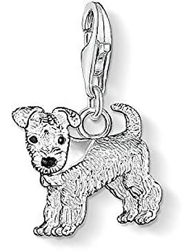 Thomas Sabo Damen-Charm Club-Anhänger Hund 925er Sterlingsilber schwarz emailliert 0841-007-12