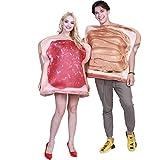 EraSpooky Costumi per Adulti Pane Tostato con Burro di Arachidi e Marmellata Costume Plus Size Halloween Party Funny Outfit per Donna Uomo