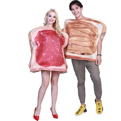 Eraspooky coppie burro di arachidi gelatina costumes